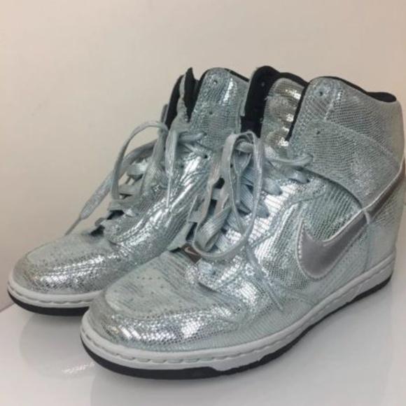 buy online ddc56 47d36 Nike Dunk Sky Hi QS Wedge Disco Ball Sneakers 7.5.  M 5bdb31cc03087c95f6d8f8e6